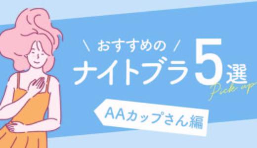 《2020年8月》AAカップ向けナイトブラのおすすめ5選|必要性と育乳効果&ブログ体験談を紹介